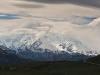 Leichte Bewölkung am Gipfel vom Mount McKinley