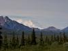 Erster Blick auf den Mount McKinley