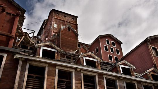 Das alte Hauptgebäude der Kupfermine