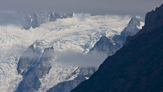 Eindrucksvoller McCarty-Gletscher - jedoch rapide am Abschmelzen!