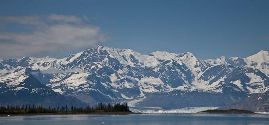 Blick auf den Columbia Gletscher ...