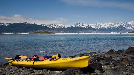 Aufbruch zum Columbia Gletscher ...