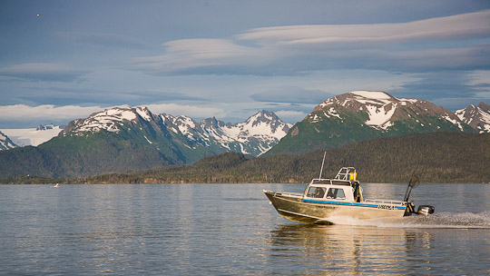 Homer Spit - Die Kenai Mountains