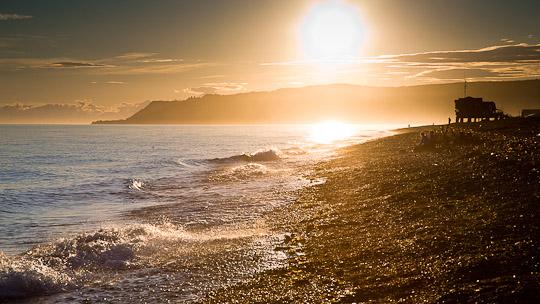 Homer Spit - Den Sonnenuntergang am Strand geniesen ...