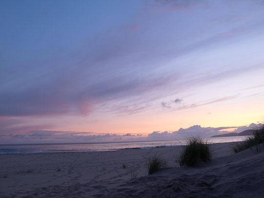 Die Nacht bricht ein in der Sandwood Bay