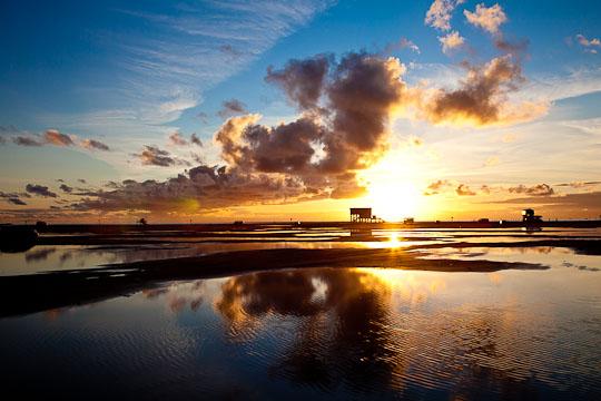 ... und Sonnenuntergang