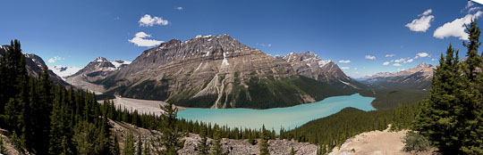 Panorama vom Peyto Lake im Banff National Park
