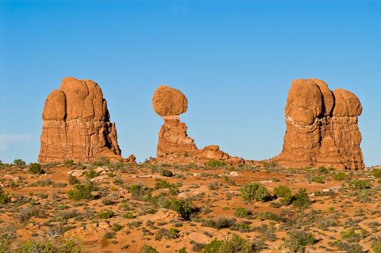 Steinskulpturen und Bögen findet man unzählige im Arches National Park